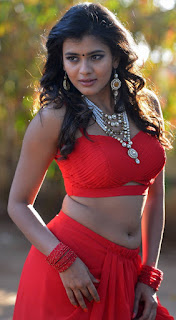 Pretty Girl Heeba Patel% Show Pos In Red Dress (2)